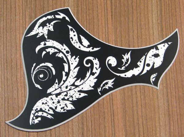 L4A - Engraved Pattern 1 on Matte Black over white